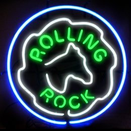 Discount rolling rock beer signs - Fashion Handcraft Rolling Rock Beer Real Glass Tubes Beer Bar Pub Display neon sign 19x15!!!Best Offer!