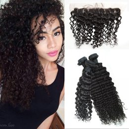 Wholesale European Human Hair Bundles Deep Wave with Silk Base Frontal Bundles with Ear to Ear Silk Frontals FDSHINE