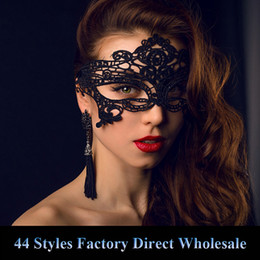 masquerade ball costumes for women NZ - 44 Styles Eye Mask Women Sexy Lace Venetian Mask For Masquerade Ball Halloween Cosplay Party Masks Female Fancy Dress Costume Masque