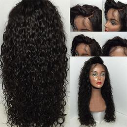 Wholesale Water Wave Lace Frontal Wigs For Black Women Pre Plucked Honey Queen Brazilian Human Remy Hair Bleached Knots Inch
