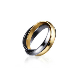 r plate Canada - Classic Party Finger Ring 3 Rounds 18K Gold Plated Fashion Brand Rings For Women and Men Jewelry R-054B