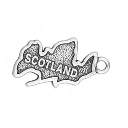 $enCountryForm.capitalKeyWord NZ - 2017 hot sell 15*23mm Antique Silver Plated Country Map Scotland Patriotic Charm Travel Jewelry 20pcs lot