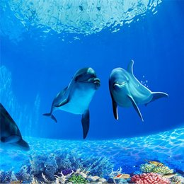 Chinese Wholesale Photo Wallpaper High Quality Deep Sea Dolphin Backdrop Modern Decorative Paintin 3d