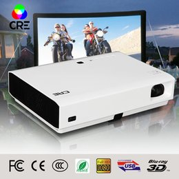Projector Wifi Support Canada - Wholesale-2016 Best CRE 3led RGB smart home theatre wifi projectors full hd led DLP support 1080P 3d Tv cinema for maltimedia projector