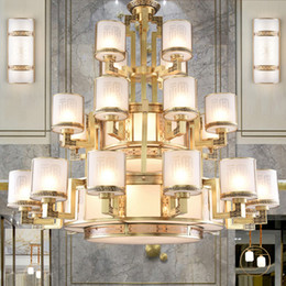 modern lantern lamp NZ - Hotselling Chinese style copper led chandelier lights lantern high-end classic decorative led chandeliers lighting led pendant lamps project