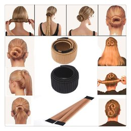 $enCountryForm.capitalKeyWord Canada - Magic DIY Styling Tools Bun Maker Hair Wig Accessories Ties Donut Former Foam Hair Bows French Twist Magic Bun Maker Free DHL