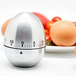 electronics programming 2019 - Stainless Steel Egg Reminder Originality Mechanics Kitchen Timer Alarm Clock 60 Minutes High Quality Hot Sell 11 5my J R