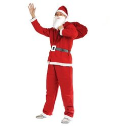 adult santa claus suit UK - Christmas decorations Christmas adult male clothing Santa suit 5 sets of Santa Claus