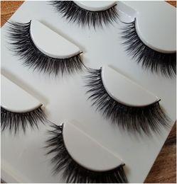 sexy false eyelashes 2019 - 3D Mink Hair False Eyelashes 0.5-1cm Sexy 100% Handmade Mink False Eyelashes Extensions for Casual Makeup discount sexy