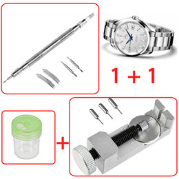 Watch spring bracelets online shopping - Metal Watch Band Bracelet Link Remover Spring Bar Repair Tool w Extra Pins