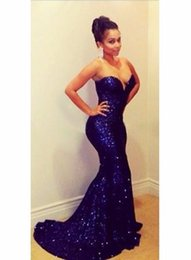 African Dresses For Special Occasions Canada - New Celebrity holiday dubai sweetheart evening Dresses Royal Blue Gowns for Special Occasion formal Prom dress Sequined african