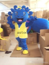 dinosaur suit adults Australia - The blue dinosaur dragon mascot costume for adults christmas Halloween Outfit Fancy Dress Suit Free Shipping Drop Shipping