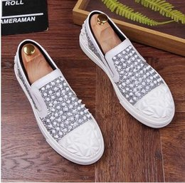 new pointy shoes men Australia - Promotion New spring brand new free shipping Fashion Mens Punk Studded Rivet Spike Suede Pointy Loafers Casual Dress Shoes AXX444