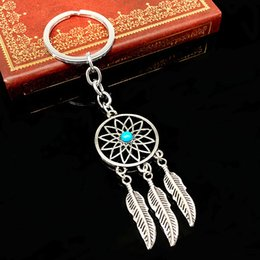 Wholesale Feather Tassels Dreamcatcher Dream Catcher Pendant Keyring Keychain Key Chain For friend birthday party gift
