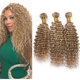 Blonde highlighted weave suppliers best blonde highlighted weave mixed brown blonde deep wave indian hair 3 bundles blonde highlight deep curly piano hair weaves extensions 300g lot dhl free blonde highlighted weave deals pmusecretfo Image collections