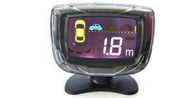 Probe Car UK - PZ312 PZ313 LCD Parking Sensor Human Voice Alarm BIBI Car Crescent Beeper Reversing Radar Four Probes Numeral LCD Digital Display Free EUB