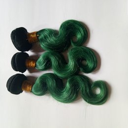 $enCountryForm.capitalKeyWord Australia - Ombre Unprocessed Virgin Human Hair Extensions 5Bundles sexy Elegant And Beautiful ombre Dip Dye 1B green Two tone silk European remy hair