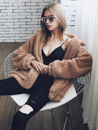 $enCountryForm.capitalKeyWord Canada - 2019 Wholesale-Winter Fall Womens Fluffy Coat Shaggy Faux Fur Cape Jacket Elegant Outwear Cardigan Tops Wool Warm Outfit Overcoat