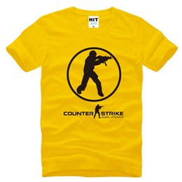 Wholesale global clothes online – design Summer Style COUNTER STRIKE T Shirt Men GLOBAL CS T shirts Fashion Short sleeve Printed Male Tops Tees Sweatshirt Clothing Hot