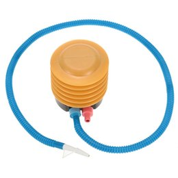 Inflatable Pressure Canada - Wholesale-Protable Durable Air Inflator Mini Plastic Balloon and Yoga Balls Foot Air Pressure Pump Inflatable Air Foot Pump