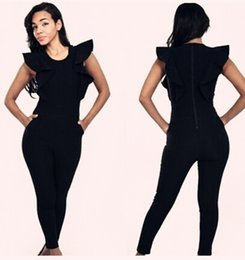 Barato Wompers Sexy Shorts-Atacado-Sexy Black Womens Jumpsuits Backless Clubwear Rompers Mulheres Verão Summer Rompers Womens Jumpsuit para Mulheres Preto Branco 3D52