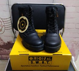 swat shoes 2019 - Waterproof SWAT Tactical Boots Desert SWAT American Combat Boots Outdoor Shoes Breathable Wearable Boots Hiking EUR size