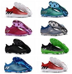 Messi 16+ Pureagility FG Soccer Boots Mens Soccer Cleats New Football Bottes Soccer Shoes 2017 Football Cleats Cheap Soccer Shoes Wholesale