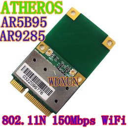 Wholesale Mini Laptop Canada - Wholesale- Wireless wifi Half Mini PCI-E Card Atheros AR5B95 AR9285 BGN PCI-E 802.11b g n WIFI Network Express Card