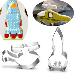 $enCountryForm.capitalKeyWord Canada - 2pcs rocket helicopter metal cookie cutters Patisserie fondant cake pastry mold party baking tools
