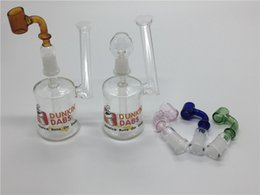 Discount cheap oil dome bong - Wholesale Coloful tobacco bong Mini Glass Recycler Oil Rig Glass bong with dome and nail or tobacco bowl portable Cheap