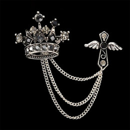 $enCountryForm.capitalKeyWord Canada - Trendy Apparel Male Business Suits Wedding Brooch Alloy Crown Lapel Pin Crosses Brand Popular Corsage Women Brooches Broches Pins Jewelry