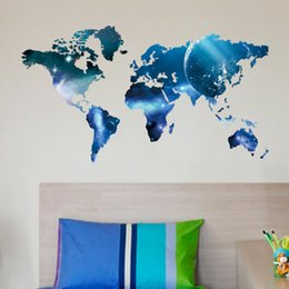 World map wallpaper online world map wallpaper home for sale hot sale pvc wall stickers world map blue modern removable vinyl wall sticker wallpaper home office art decal gumiabroncs Gallery
