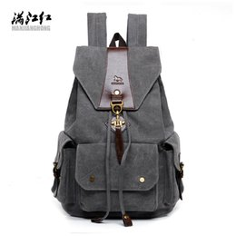 $enCountryForm.capitalKeyWord Canada - Wholesale- 2016 New Casual Men Backpack England Style Vintage Men's Backpacks Korean High Quality Washed Canvas Backpack School Bags