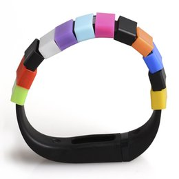$enCountryForm.capitalKeyWord Canada - 1000pcs lot Silicone Fasteners For Fitbit Flex alta Band Wristband Bracelet Clasp Keeper buckle DHL Free