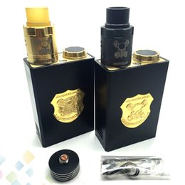 Gold vapor electronic ciGarettes online shopping - Huge Vapor Underground Kit come with Underground Box Mod and Underground RDA Colors fit Battery Electronic Cigarette DHL Free