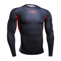Superhero Shirts Wholesale Australia - gym clothing Crossfit men body engineer superhero Compression Shirt Long Sleeves Training t shirt Summer Fitness Clothing Bodybuild 4XL