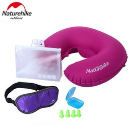 $enCountryForm.capitalKeyWord NZ - Wholesale- Naturehike Folding U Shape Inflatable Pillow Air Pillows+Ear Plug+ Eye Blindfolds Patch Travel Plane Camping 3Pcs Set