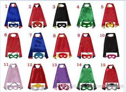 Misturado 30design Double Side L70 * 70cm kids Superhero Cosplay Capes e máscaras