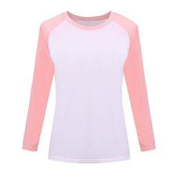 Discount korean shirt style for women - Wholesale- 2016 Autumn Korean Pink Style Women T-shirt Sweatshirt Raglan Long Sleeve Women's Clothing Tops T-shirts