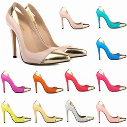 patent leather platform sexy shoes 2018 - Zapatos Mujer Women's Pointe Toe Patent High Heel Stilettos Platform Sexy Pumps Shoes Us4-11 Mixed Color D0076 chea
