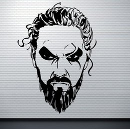 game television Canada - 42X58cm Khal Drogo Wall Decal Game Of Thrones Vinyl Sticker Fantasy Movie Wall Art Design Housewares Kids Room Bedroom Decor Removable Wall