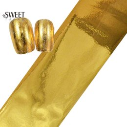 $enCountryForm.capitalKeyWord Canada - Wholesale-100cmx4cm Fashion Designs Gold Foils Polish Nail Art Transfer Foil Sticker Full Wraps Nail Decals Adhesive Manicure Decor JY02