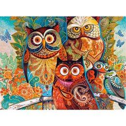 China Animal Owl DIY Diamond Painting Embroidery 5D Cross Stitch Crystal Square Home Bedroom Wall Art Decoration Decor Craft Gift suppliers