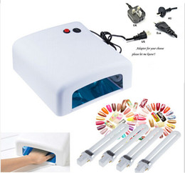 Vente De Kits De Gels En Gel Pas Cher-Vente en gros - Top Vente 2014 New Arrival Outils à ongles CCFL 36W UV GEL Cring + 4 * 9w Light Nail Art UV Machine à lamelles Kits kit de vernis de gel avec ampoule uv