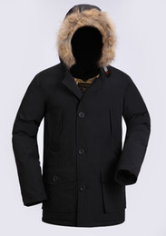 Warmest Goose Down Parka Australia - Fashion Wool rich Classic Brand Men Arctic Anorak Down jackets Man Winter white goose down 90% Outdoor Thick Parka Coat Mens warm outwear