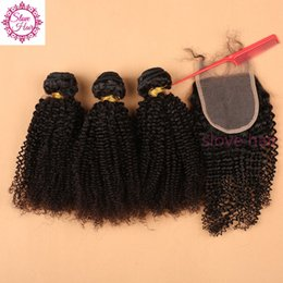 best brazilian virgin curly weave 2019 - Best Quality 8A Human Virgin Hair Lace Closure With Bundles mongolian kinky curly hair with closure 3 bundles with closu