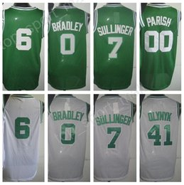 Homme Maillot De Basket Vert Pas Cher-Maillots de basket masculin 2017 à moins de moins cher 0 Avery Bradley 6 Bill Russell 41 Kelly Olynyk 00 Robert Parish Jersey Green White Stitched Wholesale