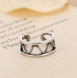 Wedding & Engagement Jewelry Bisaer 925 Sterling Silver Vintage Wave Geometric Adjustable Ring Gold Lace Finger Rings For Women Silver Jewelry Anel Ecr460 Back To Search Resultsjewelry & Accessories
