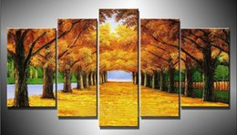 $enCountryForm.capitalKeyWord NZ - Cuadros Wall Art Autumn Tree Oil Painting On Canvas Paintings By Numbers Pictures Home Decor Living Room Unframed 5 Pieces set