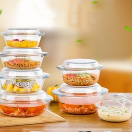 $enCountryForm.capitalKeyWord Canada - Hot Sale Heat-Resisting Glass Tempered Glass Food Container Transparent Microwave Glasslock Food Storage Container Box Multifunctional cover